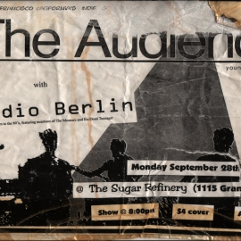 Radio Berlin's first show! Opening for The Audience (San Fran, pre-Vue) at The Sugar Refinery in Vancouver, 28 September 1998.