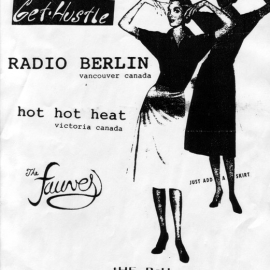 Get Hustle, Radio Berlin and Hot Hot Heat at The PCH in Wilmington CA, 11 December 1999. Unfortunately there was some weird mix up with the promoter and Get Hustle didn't play.