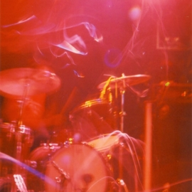 A rather artistic photo of Radio Berlin opening for Add N To (X) in Vancouver BC, 2001. Photo credit unknown.