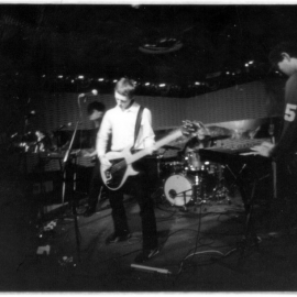 Live at Club Luxx in NYC, 2001. Photo by Toby Carroll.